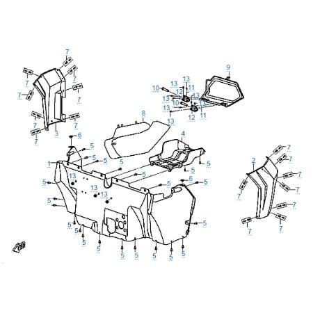 Пластиковые детали 3 для CFMOTO Z10 EFI&EPS