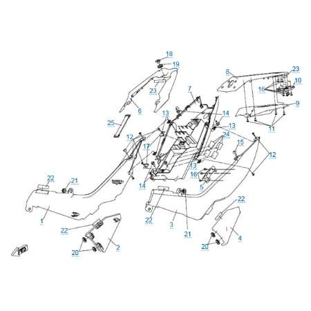 Пластиковые детали 4 для CFMOTO 150 NK
