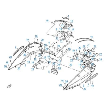 Пластиковые детали 4 для CFMOTO 250 JETMAX