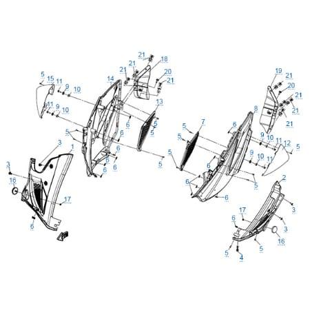 Пластиковые детали 4 для CFMOTO 650 TK