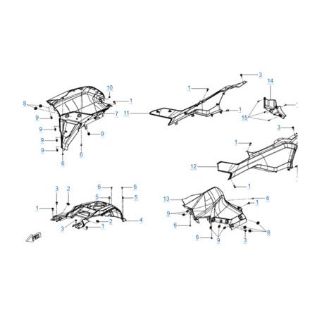 Пластиковые детали 4 для CFORCE 600 EPS