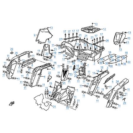 Пластиковые детали 5 для CFMOTO Z10 EFI&EPS