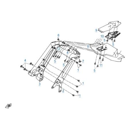 Пластиковые детали 6 для CFMOTO 250 NK (ABS)