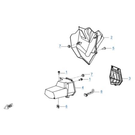 Пластиковые детали (eps) для CFMOTO Z10 EFI&EPS