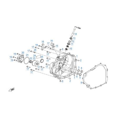 Правая крышка картера двигателя 172MM-2A