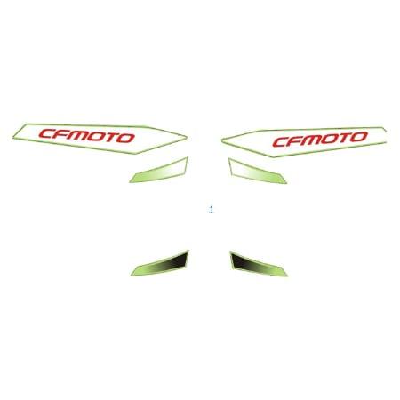 Расположение стикеров для CFMOTO 650 NK