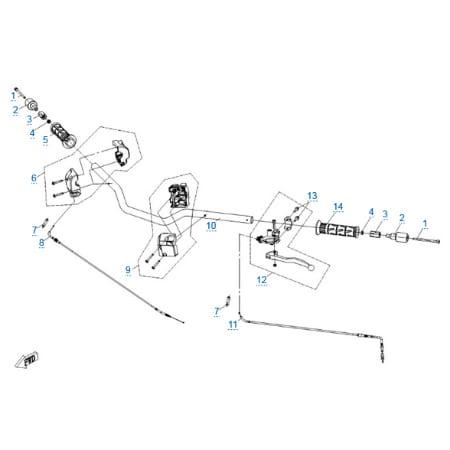 Рулевое управление для CFMOTO 150 NK