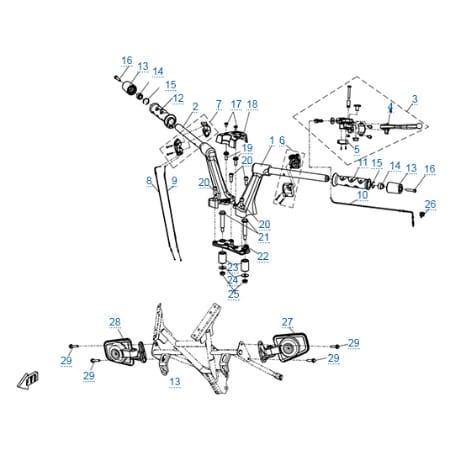 Рулевое управление для CFMOTO 650 TK