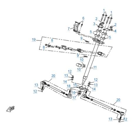 Запчасти для CF500-A