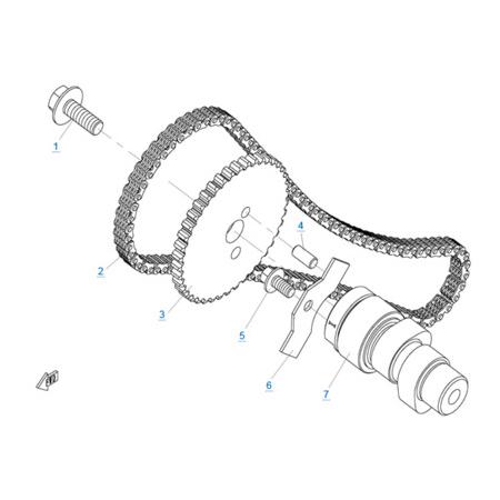 Система газораспределения 1 двигателя 2V91W (U8)