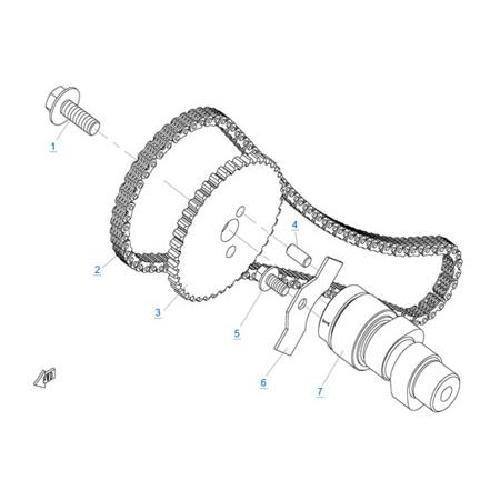 Система газораспределения 1 двигателя 2V91W