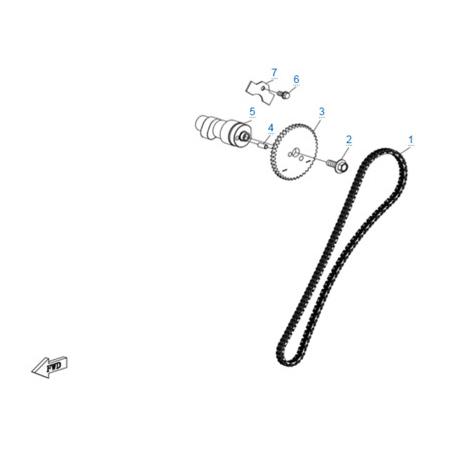 Система газораспределения 2 двигателя 2V91Y (U10)