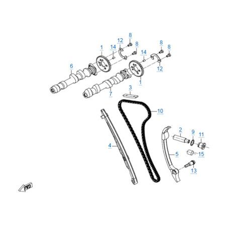 Система газораспределения двигателя 268MQ