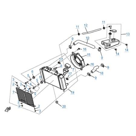 Система охлаждения двигателя для CFMOTO 150-A Leader