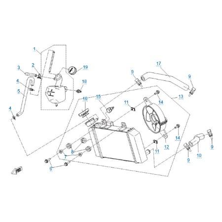 Система охлаждения двигателя для CFMOTO 150 NK