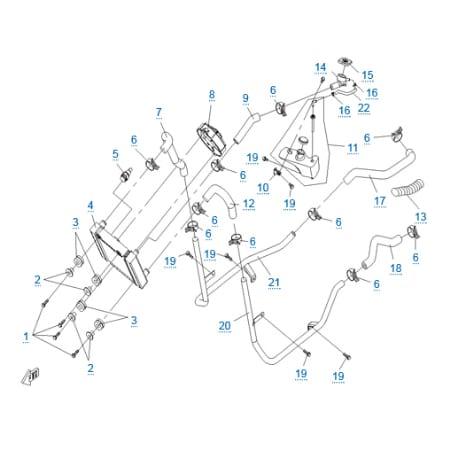 Система охлаждения двигателя для CFMOTO 250 JETMAX