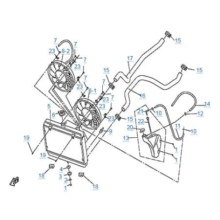Система охлаждения двигателя для CFMOTO 500-2A