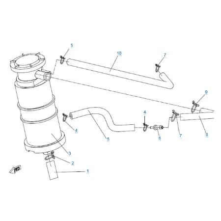 Система рециркуляции топлива для CFMOTO 150 NK