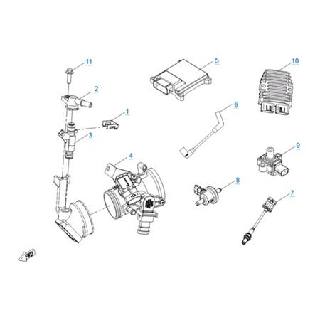 Система управления двигателем 191Q