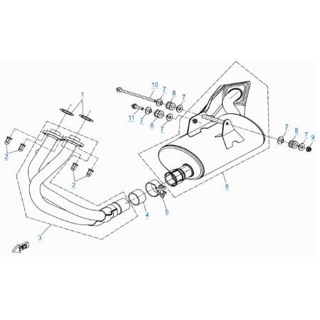 Система выпуска для CFMOTO 400 NK (ABS)