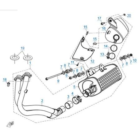 Система выпуска для CFMOTO 650 TK