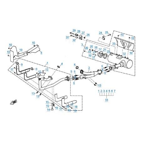 Система выпуска для CFMOTO U8W EFI&EPS