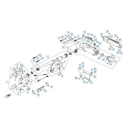 Система выпуска для CFMOTO X10 EPS