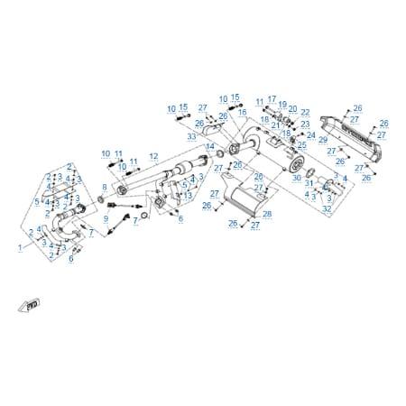Система выпуска для CFMOTO X8 H.O. EPS