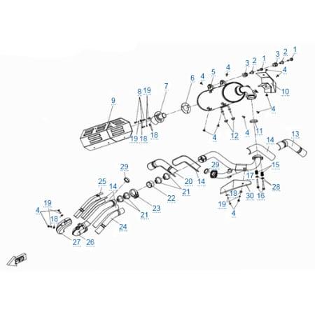 Система выпуска для CFMOTO Z10 EFI&EPS