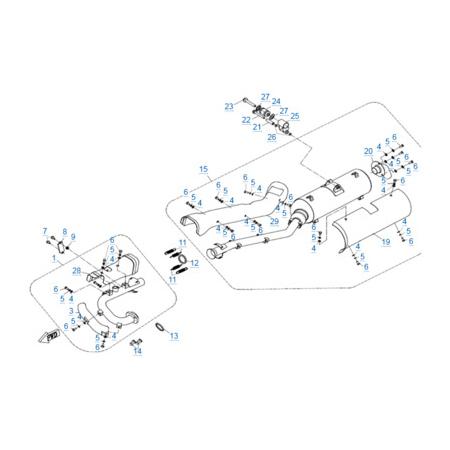 Система выпуска для CFORCE 500 HO