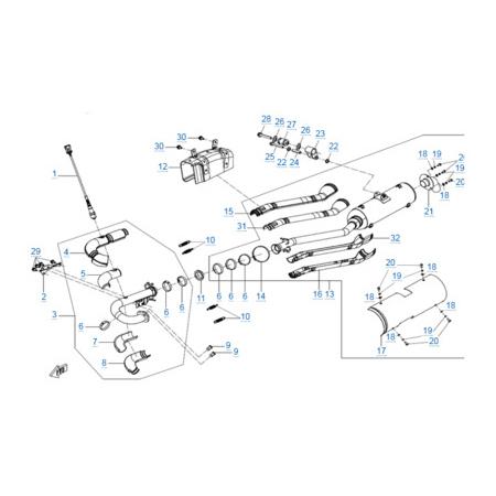 Система выпуска для CFORCE 600 EPS