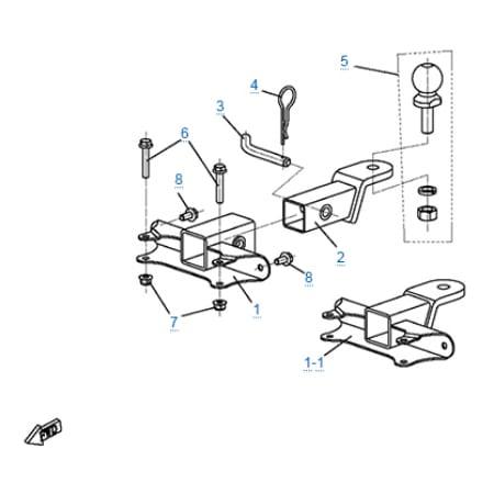 Сцепное устройство для CFMOTO Z10 EFI&EPS