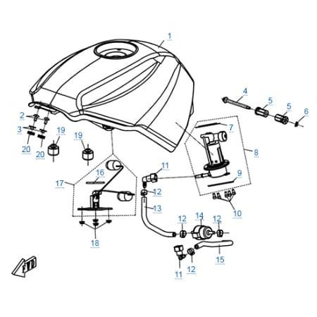 Топливная система для CFMOTO 650 TK