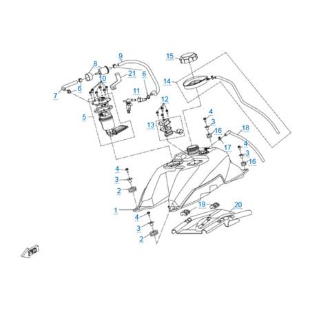 Топливная система для CFORCE 500 HO