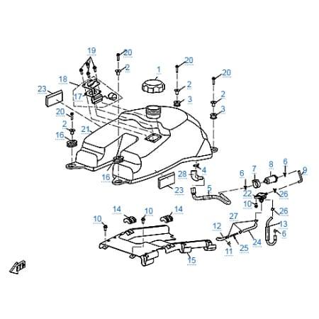 Запчасти для CF500-2A