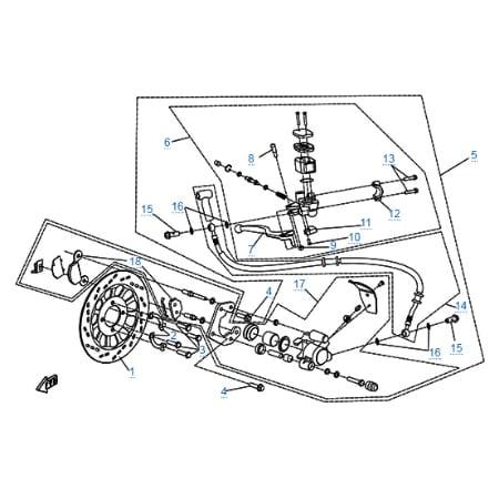 Тормозная система для CFMOTO 150-A Leader