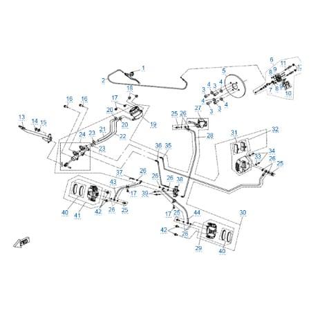 Тормозная система для CFMOTO X6 EPS