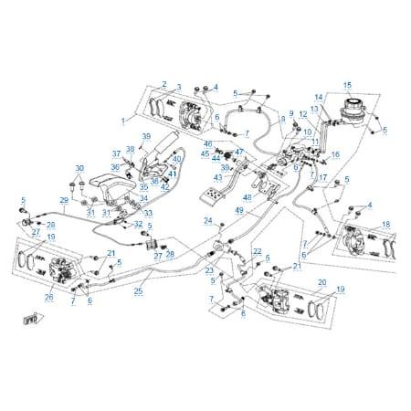 Тормозная система для CFMOTO Z10 EFI&EPS