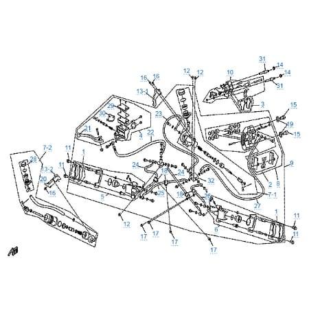 Тормозная система для CFMOTO 500-A