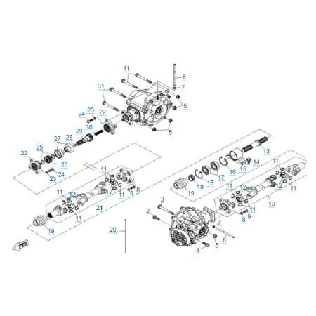 Трансмиссия для CFMOTO Z10 EFI&EPS