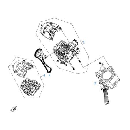 Цилиндр и головка цилиндра в сборе двигателя CF188-A