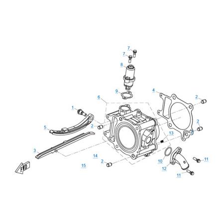 Цилиндр двигателя 1P72MM-A(A1)