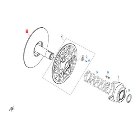 Ведомый шкив вариатора (CV-Tech) двигателя 191Q