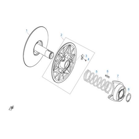 Ведомый шкив вариатора (CV-Tech) двигателя 191R(A)
