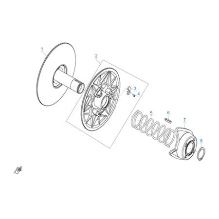 Ведомый шкив вариатора (CV-Tech) двигателя 2V91W-A