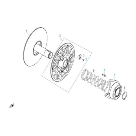 Ведомый шкив вариатора (CV-Tech) двигателя 2V91W