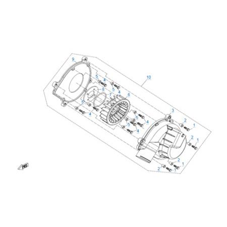 Вентилятор моторного отсека двигателя 2V91Y