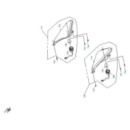 Внешние световые приборы 2 для CFMOTO 250 JETMAX