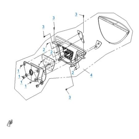 Внешние световые приборы 3 для CFMOTO 250 JETMAX