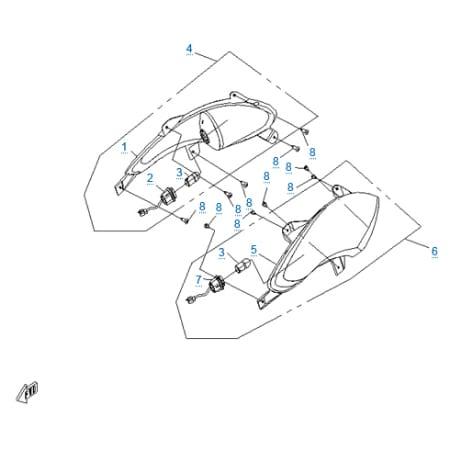 Внешние световые приборы 4 для CFMOTO 250 JETMAX